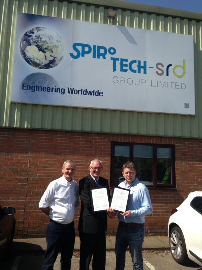 Spirotech - SRD Group are very proud to announce we have been awarded ISO 9001 and ISO 14001.
