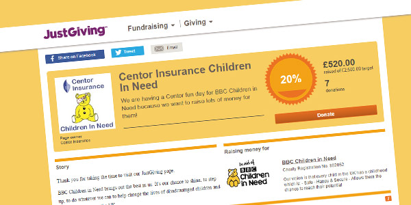 Children in Need Donataion - Centor Insurance
