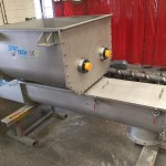 Stainless steel screw conveyors for pet food manufacturer