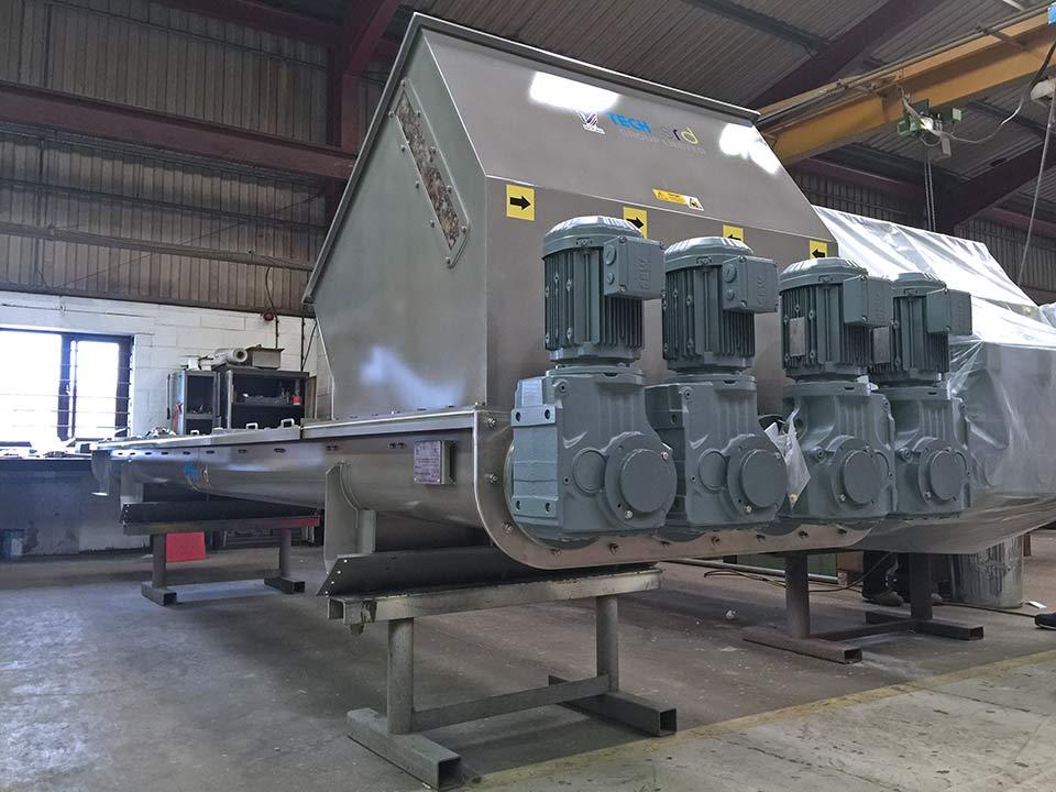 Quad-core centreless screw conveyors