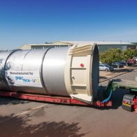 5m diameter silo leaves Sawtry factory - Spirotech-SRD