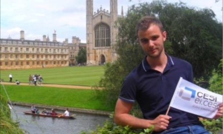 Sacha Bellamy, an engineering student from France