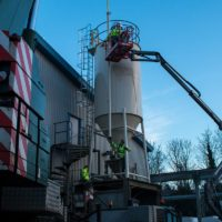 Installation of silo for cement storage - Spirotech-SRD