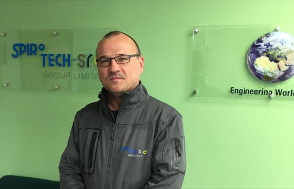 Neil Duthie as Group Welding Coordinator and Inspector