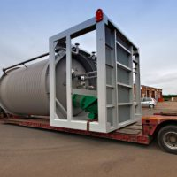 Limpet coil pressure vessel for the petrochemical industry