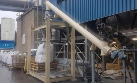 Lime injection system for rock wool producer