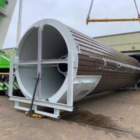 Stainless steel skirted silo - Spirotech-SRD