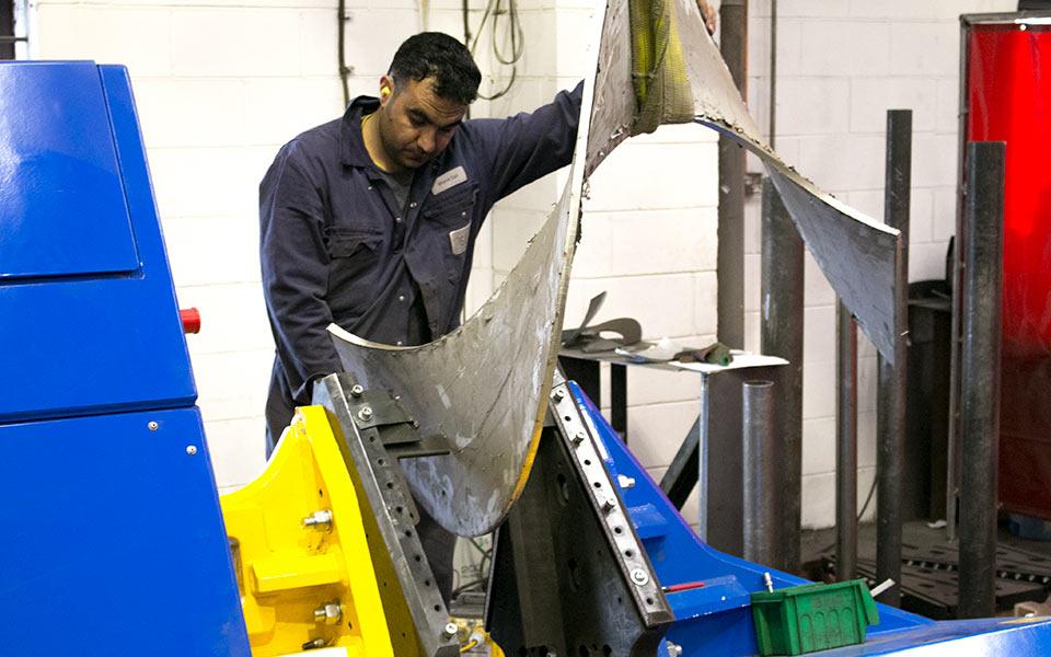 Spirotech screw flight press - now supply flights up to 1600mm diameter, 30mm thick