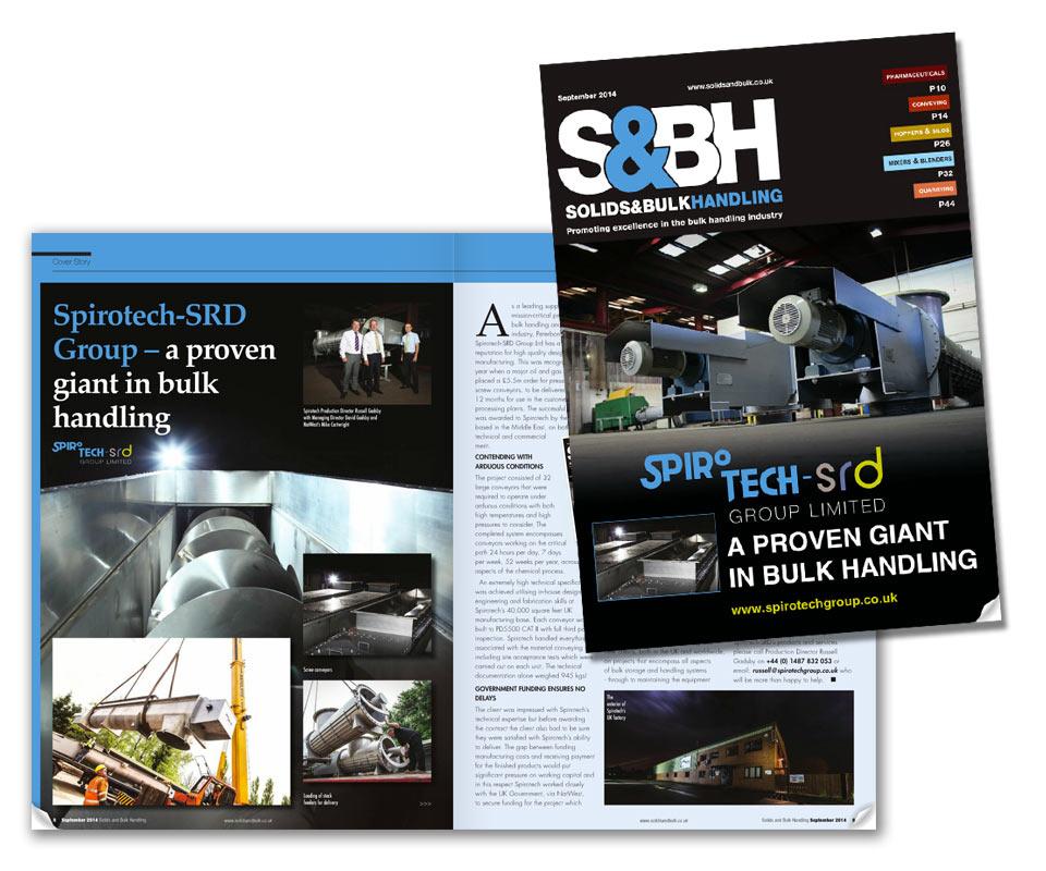 Spirotech take centre stage in Solids & Bulk Handling Magazine?