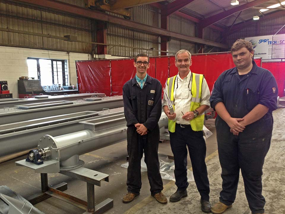 Apprentices join Spirotech-SRD Group in Sawtry