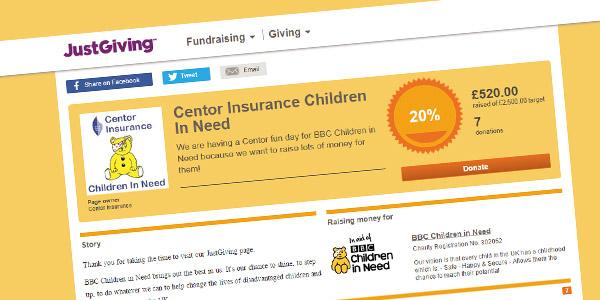 Children in Need Donataion - Centor Insurance