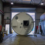 Silo assembly, built to hold mixing ingredients for a paint production company
