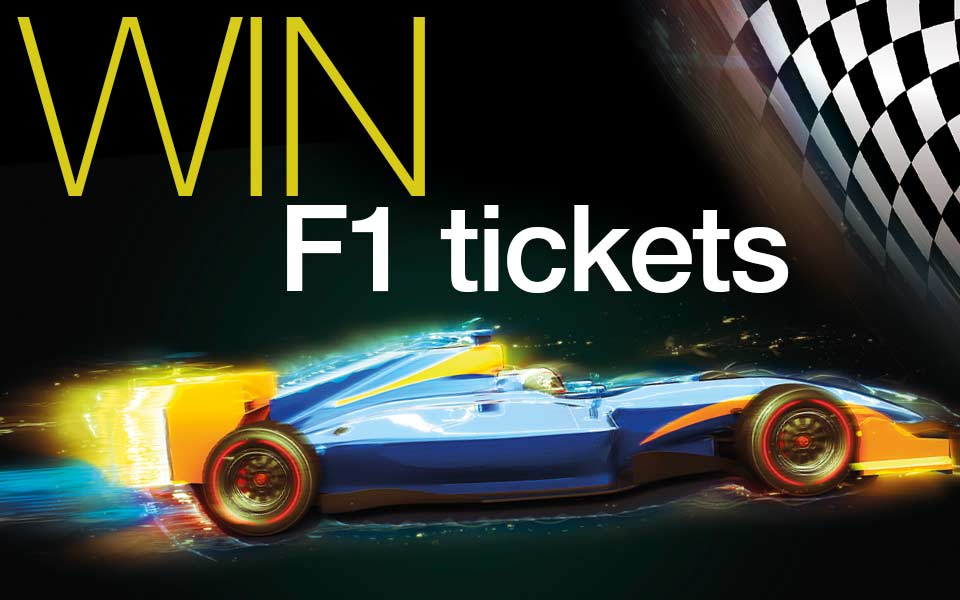 win 2 tickets for this year's F1 Grand Prix at Silverstone on 10th July