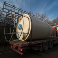Delivery of silo for cement storage - Spirotech-SRD