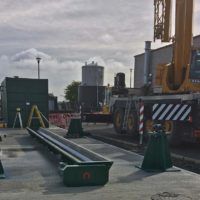Horizontal PAC silo for water treatment site