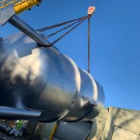 Large pressure vessel manufactured by Spirotech Group Ltd