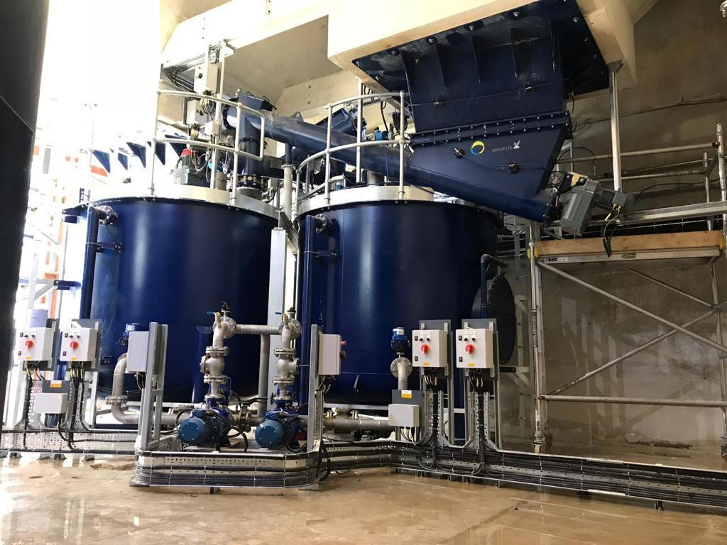 Lime powder mix tanks - Spirotech Group