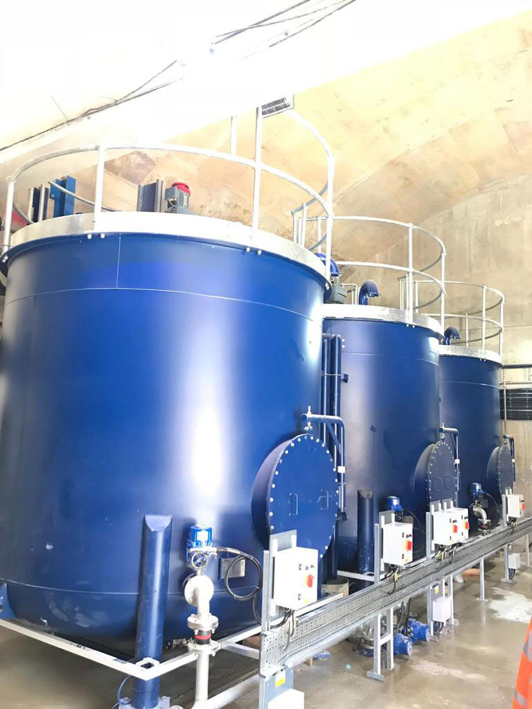 Lime slurry stock tanks - Spirotech Group