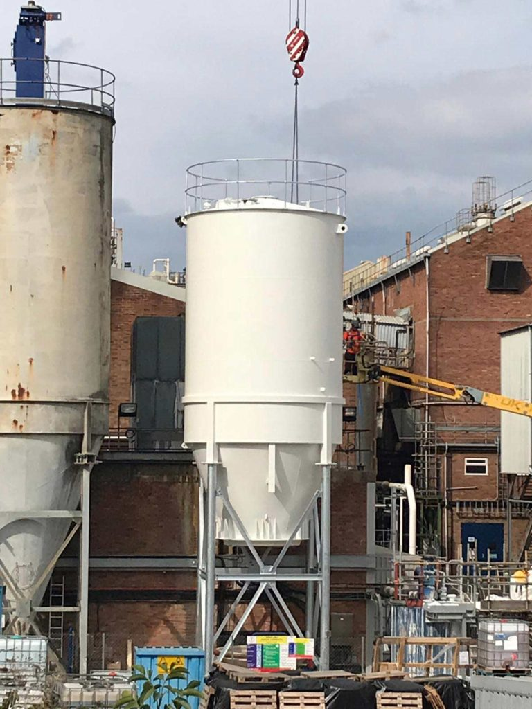 soda ash system, construction and installation for British Sugar