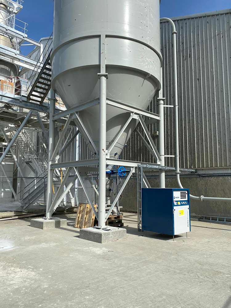 China clay processing plant installation