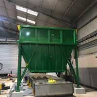 Large steel hopper manufactured by Spirotech Group