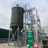 Lime system - 50m3 carbon steel silo along with accompanying structures, tank and conveyors