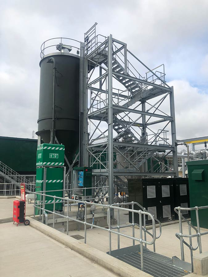 Spirotech also manufactured and supplied the free-standing stair tower and high-pressure compressor packages