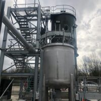 Stainless steel sludge mix tank