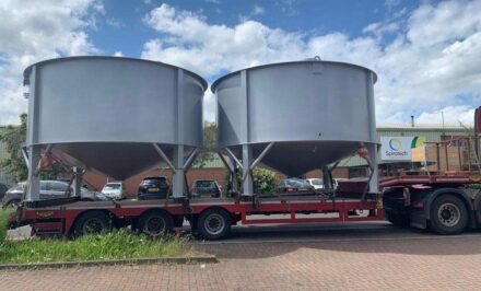 Stainless steel ash slurry mix tanks