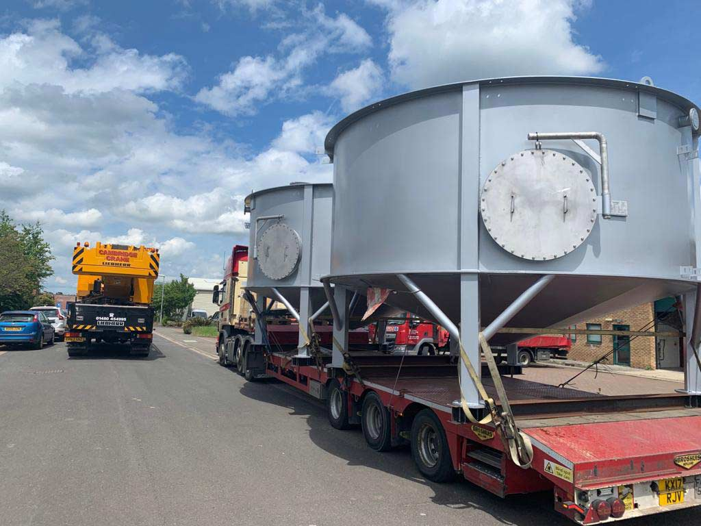 Environmental project Stainless steel ash slurry mix tanks